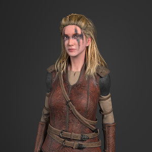 characters viking weapons 3D model