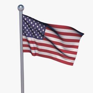 3D flag animate