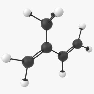 3D rubber isoprene molecule