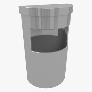 ashtray bin 4 3D model
