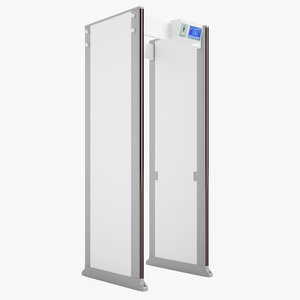 3D model door frame metal