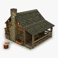 3D model forest house