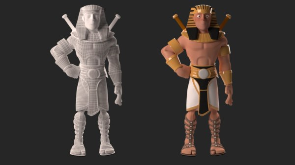 3D stylized ancient egyptian prince
