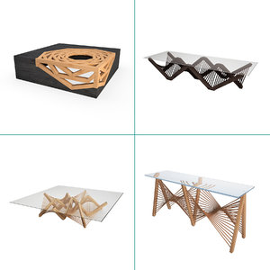 vito furniture wooden tables 3D model