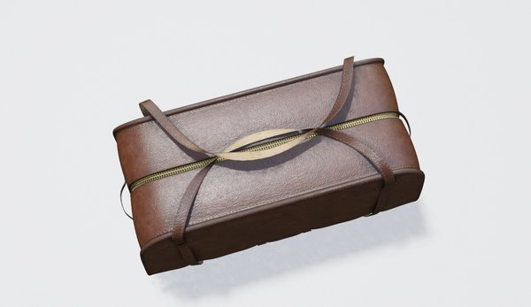 3D leather bag model
