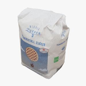 3D pack sugar model