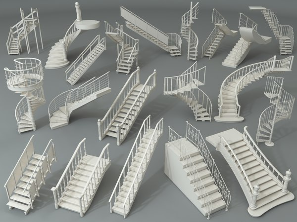 staircase stairs architecture model