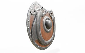 medieval viking shield 3D model