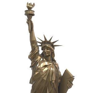 3D brass statue liberty