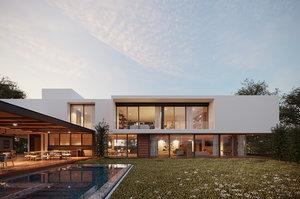 3D exterior scene casa gp