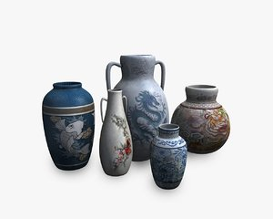 asian pottery model