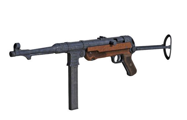 3D mp 40 submachine gun