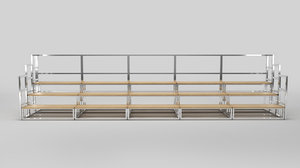 stage cross stairs 3D model