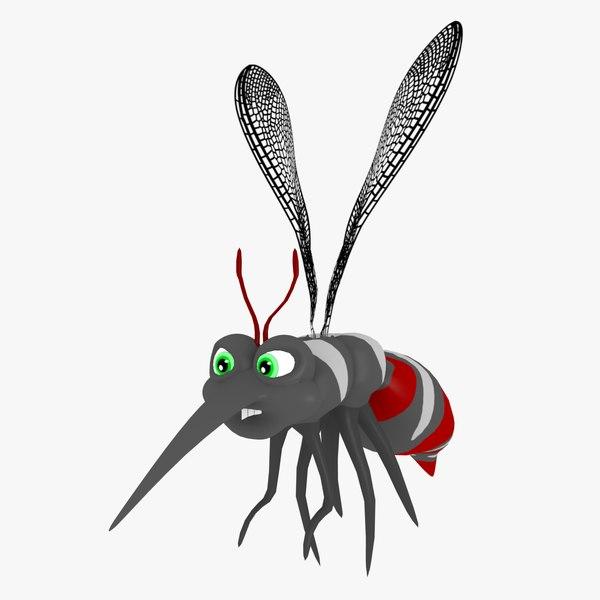 3D mosquito cartoon animation