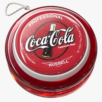 3D realistic yo-yo coca-cola