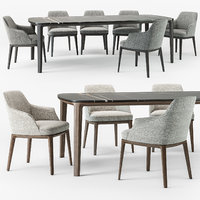 Poliform Sophie armchair Henry table set
