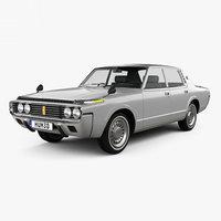 toyota crown 1971 3D model