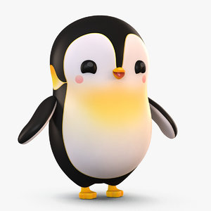 cute cartoon penguin model