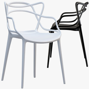 kartell masters chair philippe 3D model