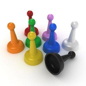 3D model ar pawn board