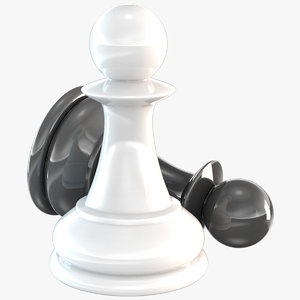 chessmen pawn chess piece 3D model
