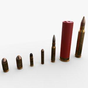 bullets pbr 3D model