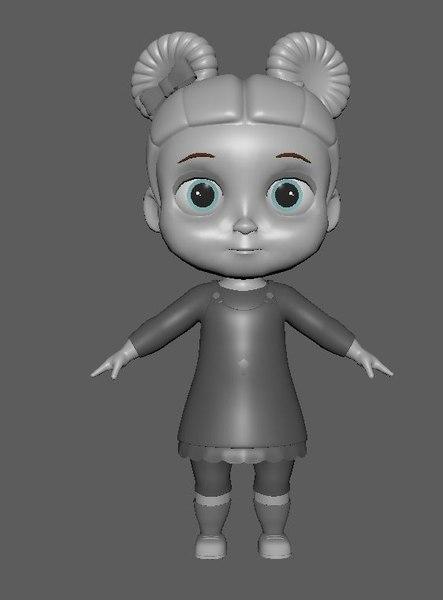 todller girl 3D model
