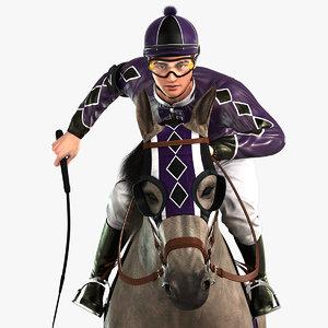 3D model horse jockey