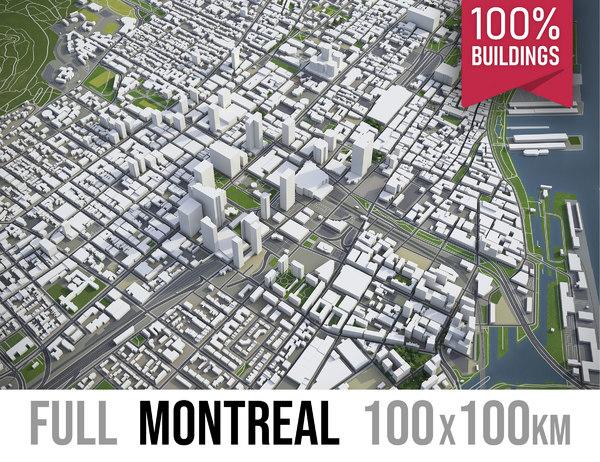 montreal area urban 3D model