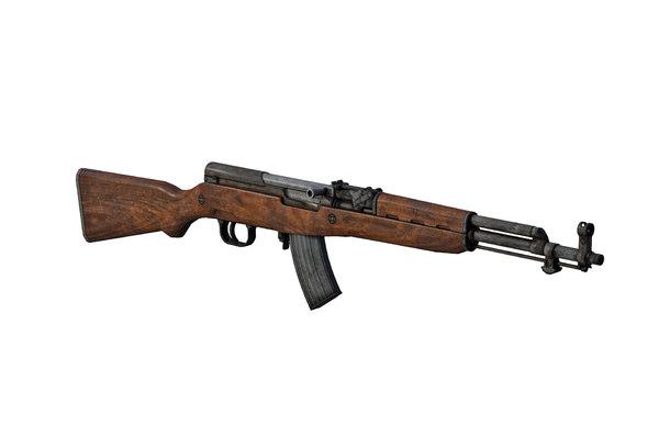 3D rifle sks model