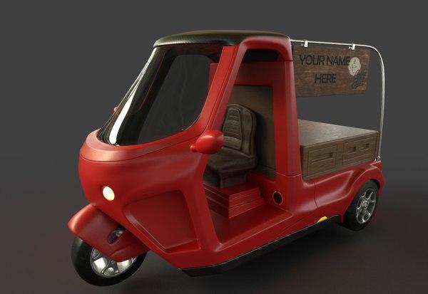 auto rickshaw 3D
