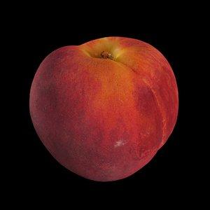 peach fruit 3D