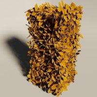fagus sylvatica hedge fall 3D model