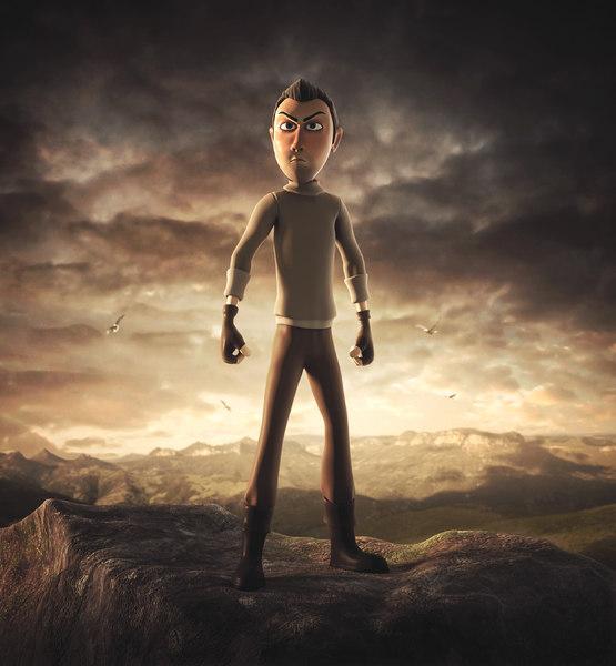 3D rigging adventurer character
