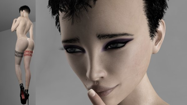 rigged female julianna model