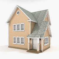 3D model two-story cottage 63