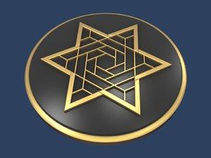 star david medallion 3D