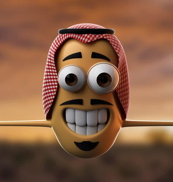 simple arabic character 3D model