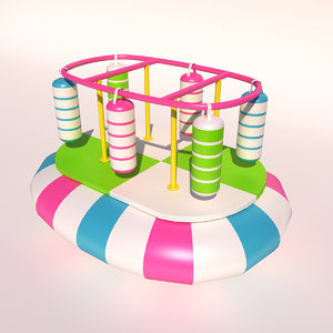 3D soft play playground model