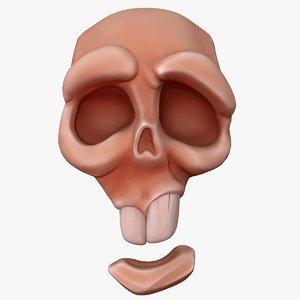 cartoon skull v1 model