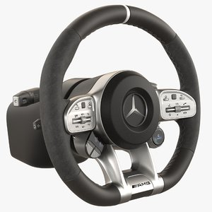 3D model mercedes steering wheel amg