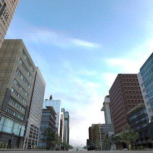 3D middle city