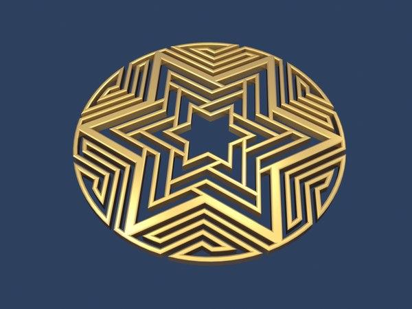 star david medallion 3D model