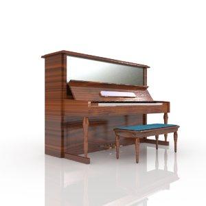 3D model piano music