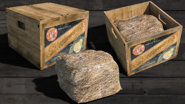antique wooden fruit 3D model