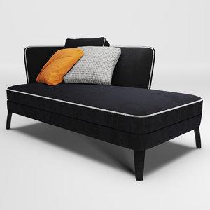 febo chaise furniture b 3D model