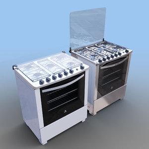 electrolux cooker 3D model