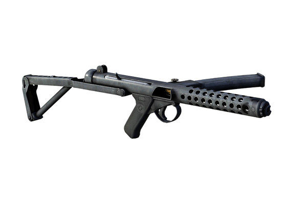 3D submachine gun sterling