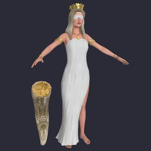 greek god fortune 3D model