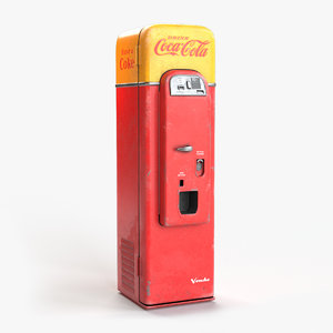 3D 1956 cocacola vending machine